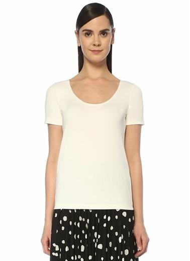 Beymen Club Beymen Club  U Yaka Dikişsiz T-shirt 101463908 Beyaz